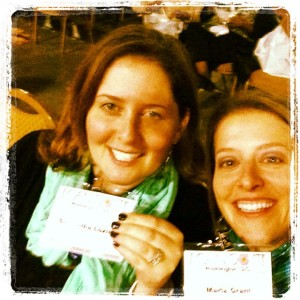 Sam and Mar with name tags in D.C.