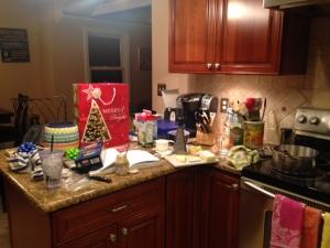 Messy but lovely kitchen