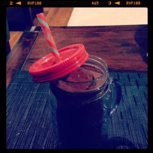 Frozen strawberry smoothie